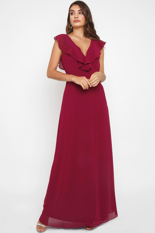 TFNC Jeanny Mulberry Maxi Dress