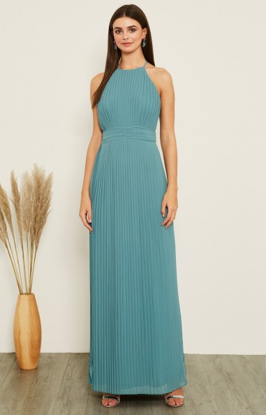 TFNC Serene Native Green Maxi Dress