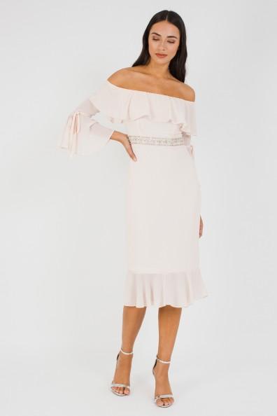 TFNC Fran Nude Midi Dress