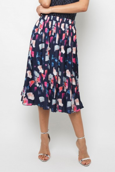 Lace & Beads Roc Navy Skirt