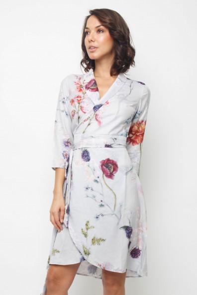 Lace & Beads Corella Grey Midi Dress
