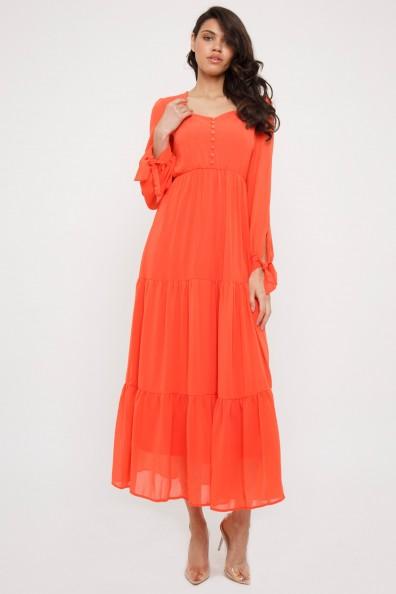 TFNC Reneen Orange Maxi Dress