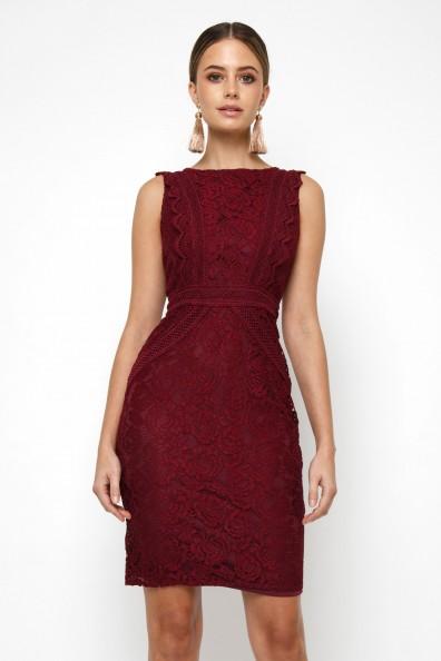 TFNC Vania Burgundy Mini Dress