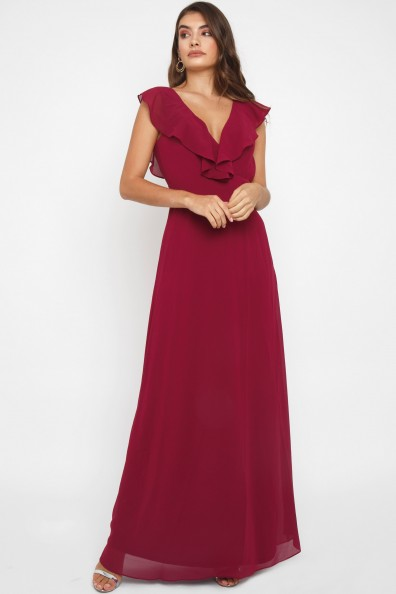 TFNC Jeanny Mulberry Maxi Dress