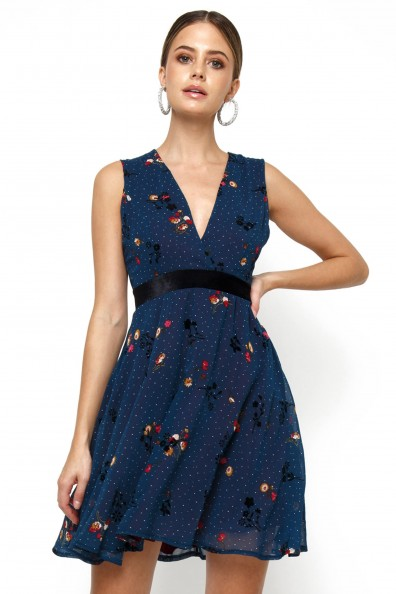 TFNC Nordi Too Navy Mini Dresses