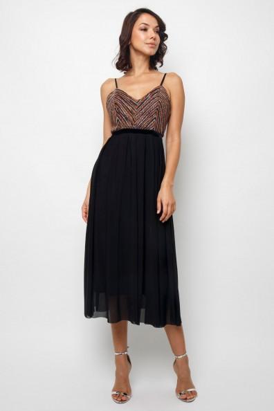 TFNC Popy Black Midi Dress