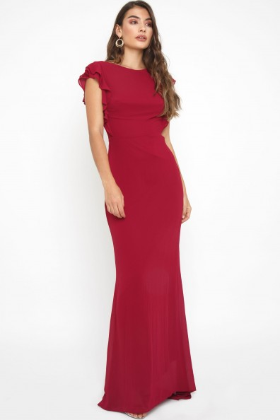 TFNC Adriana Mulberry Maxi Dress
