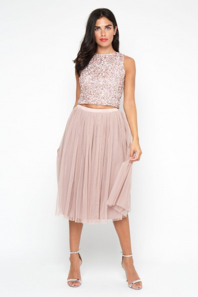 Lace & Beads Priya Picasso Sequin Top