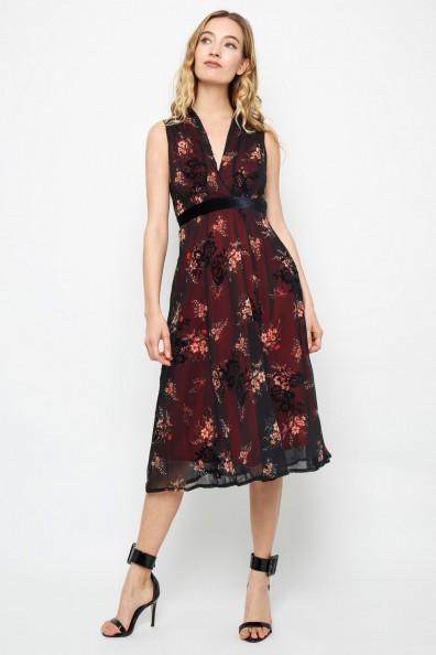 TFNC Nicolia Burgundy Midi Dress