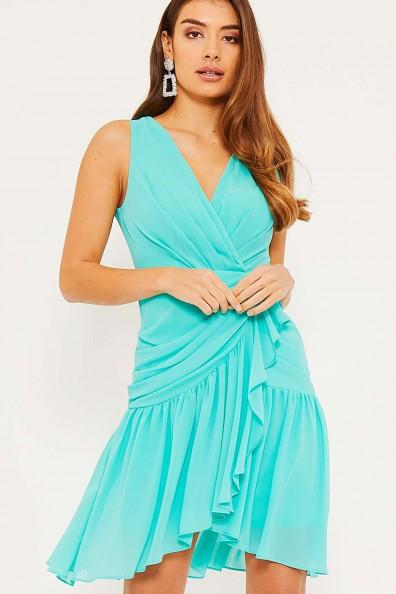 TFNC Imala Cascade Jade Mini Dress