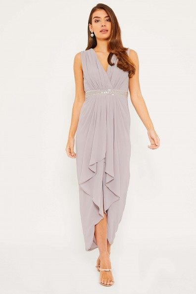 TFNC Iluka Lavender Fog Maxi Dress