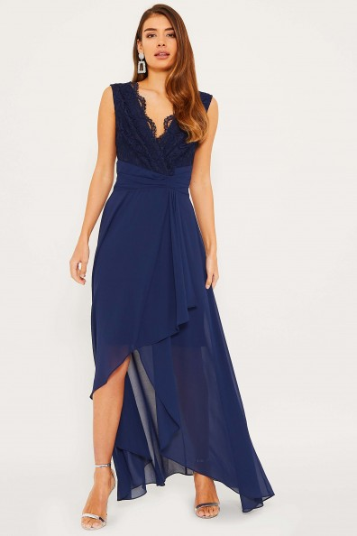 TFNC Tillie Navy Maxi Dress