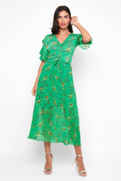 TFNC Indira Green Midi Dress