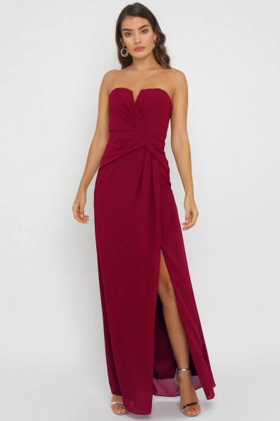 TFNC Dianne Mulberry Maxi Dress