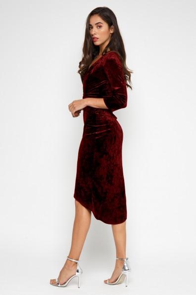 TFNC Tallia Burgundy Velvet Dress