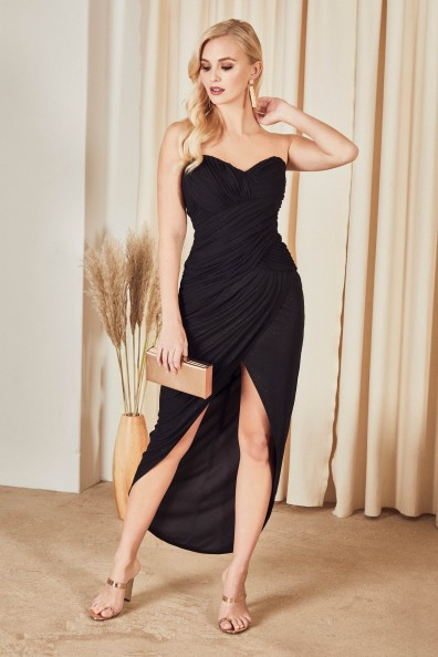 TFNC Carly Black Midi Dress