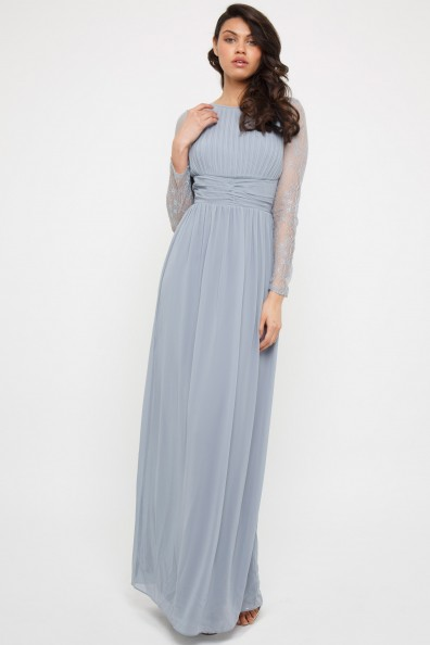 TFNC Jadine Blue Grey Maxi Dress