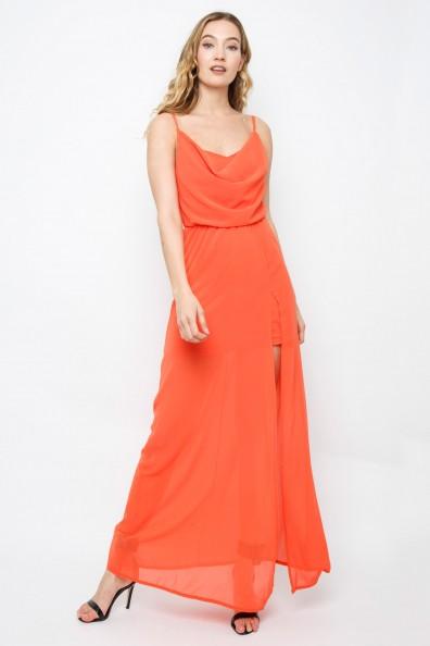 TFNC Allegra Orange Maxi Dress