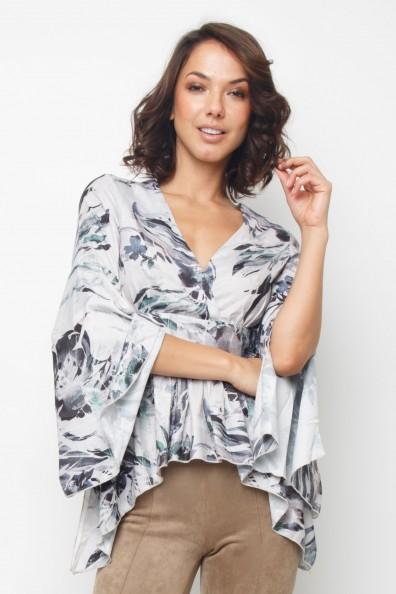 Lace & Beads Robin Forest Grey Top