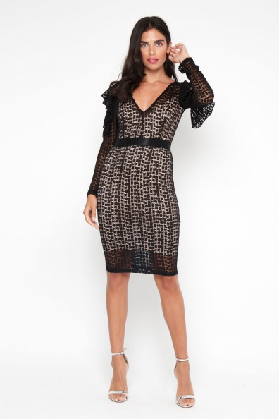 TFNC Jamalia Black Midi Dress