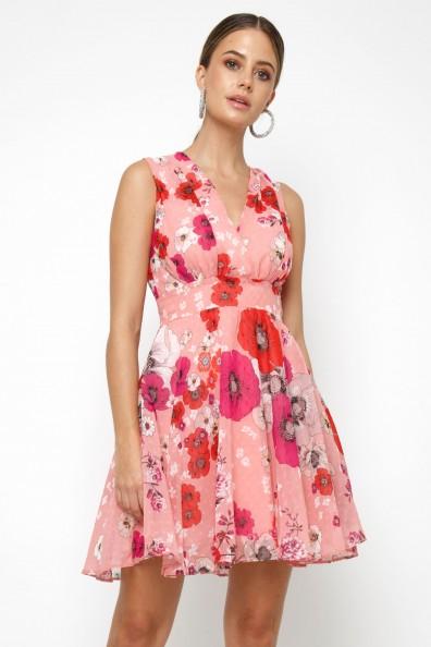 TFNC Nordi Pink Floral Mini Dress