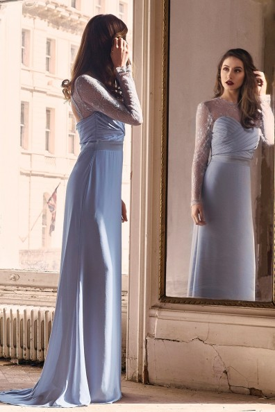 TFNC Cimmaron Blue Grey Maxi Dress