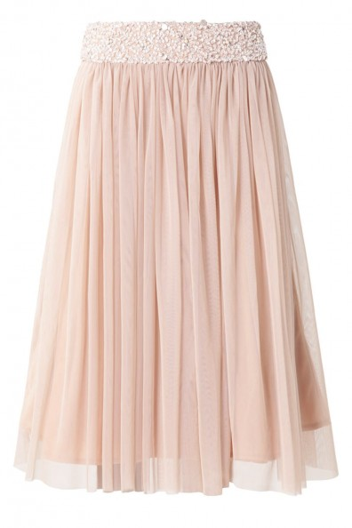 Lace & Beads Picasso Pink Skirt