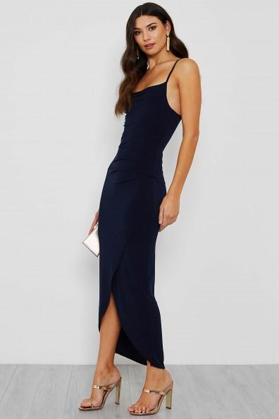 WalG Hadley Cowell Neck Maxi Navy Dress