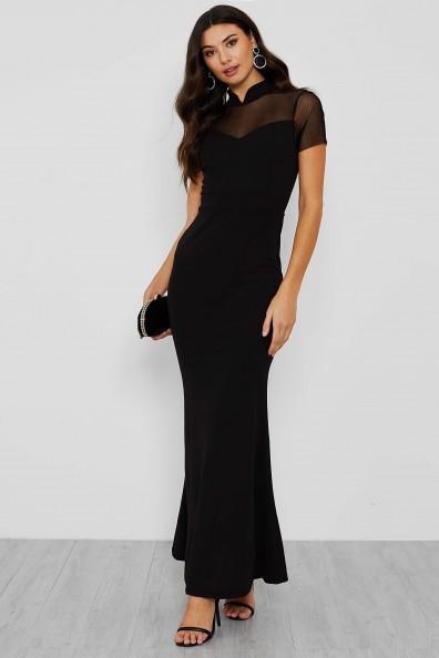 WalG Mesh Top Black Maxi Slim Fit Dress