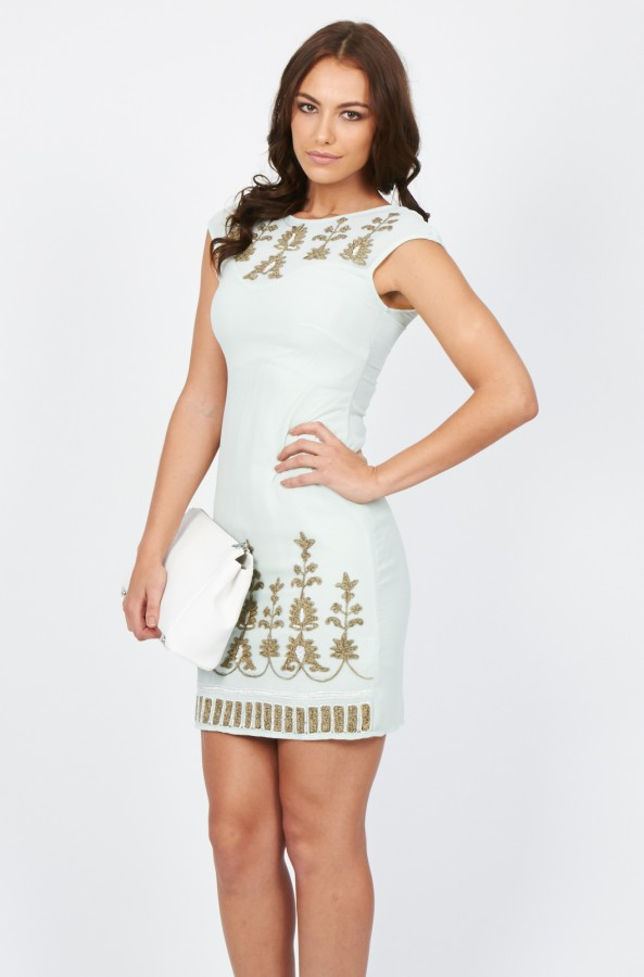 Lace & Beads Lana Mint Dress