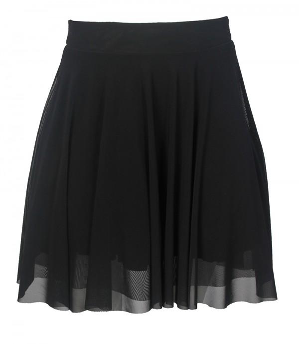 TFNC Geri Black Skater Skirt