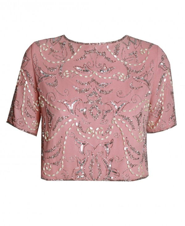 Lace & Beads Beatle Rose Top