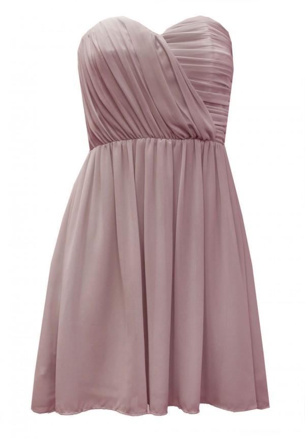TFNC Anabella Mauve Chiffon Dress