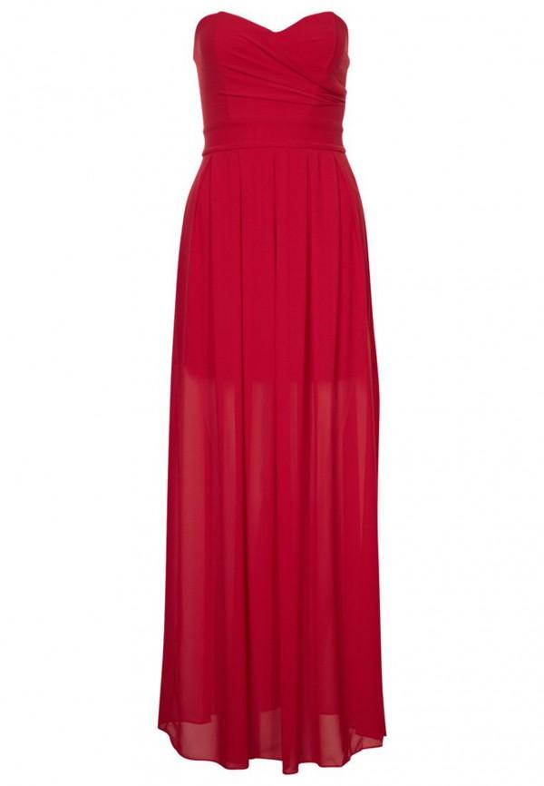 TFNC Elida Red Chiffon Maxi Dress