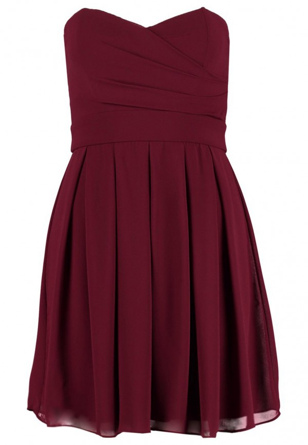 TFNC Elida Berry Chiffon Dress