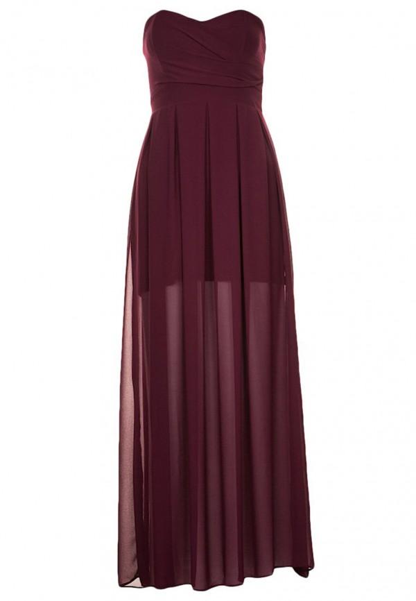 TFNC Elida Berry Chiffon Maxi Dress