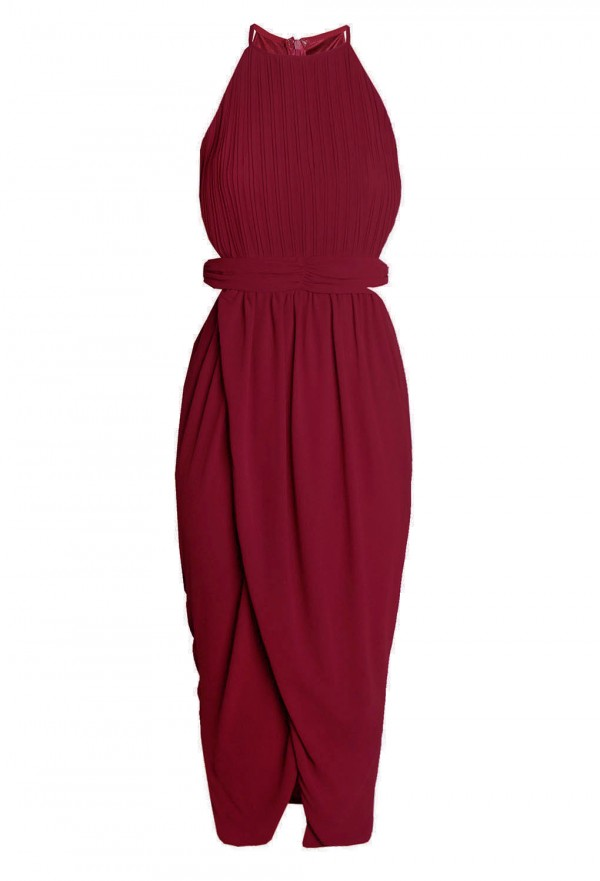 TFNC Serene Cut Out Red Dress