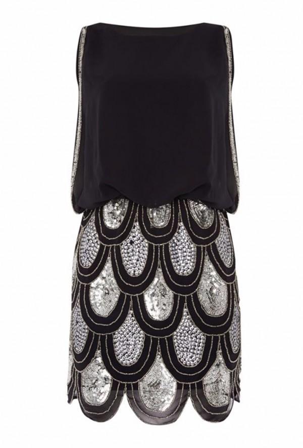 Lace & Beads Sharon Angela Black Embellished Dress