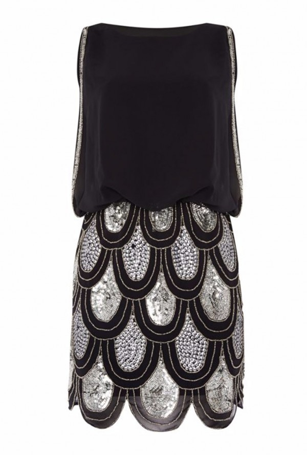 Lace & Beads Sharon Angela Black Embellished Dress