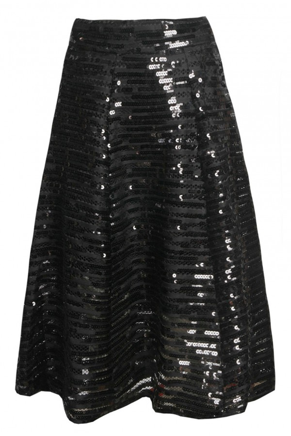 TFNC K20 Sequin Black Skirt
