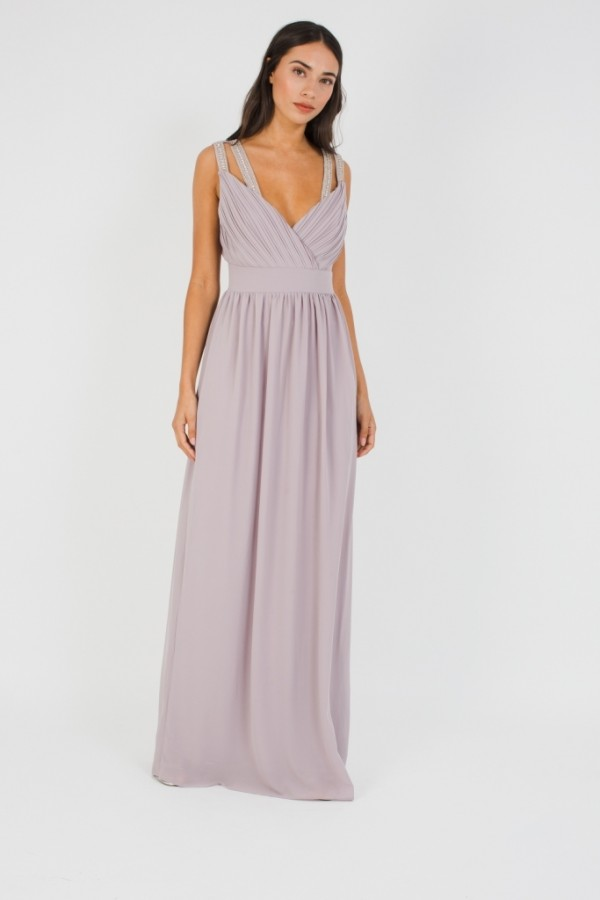 TFNC Esme Lavender Fog Maxi Dress