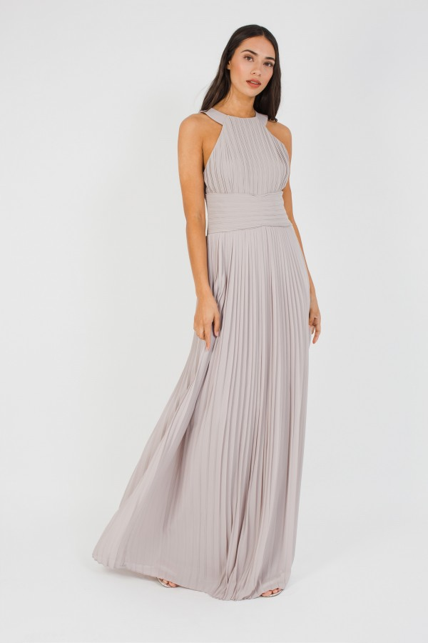 TFNC Yasmin Grey Maxi Dress