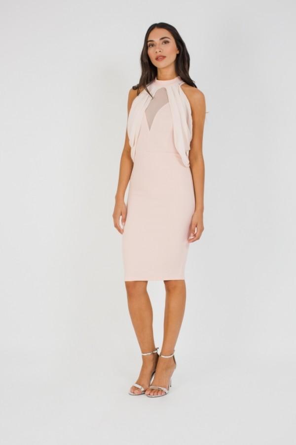 TFNC Elynn Pink Midi Dress