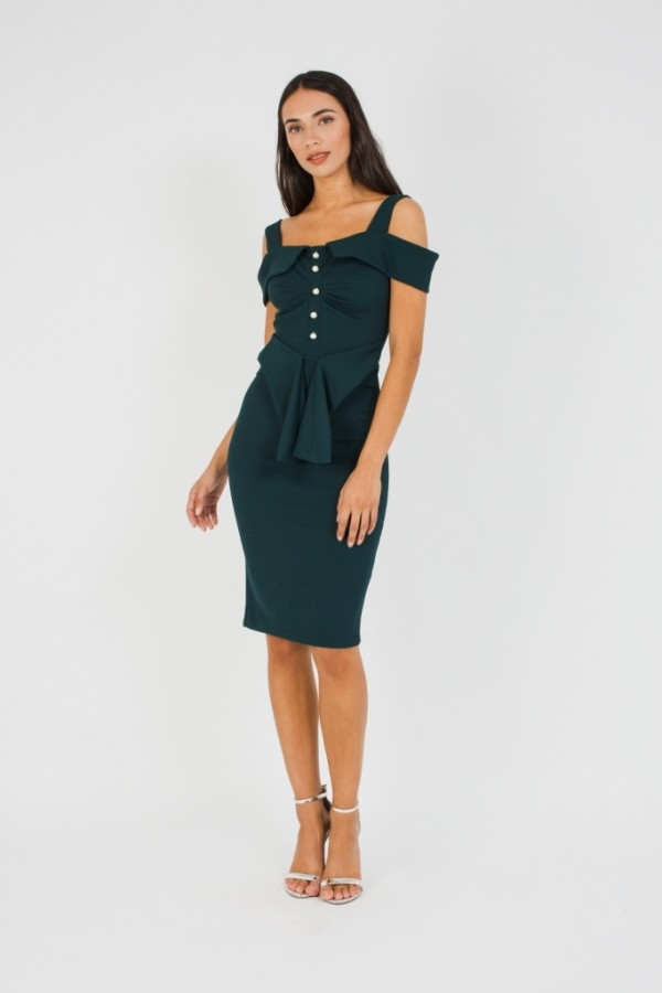 TFNC Perla Green Midi Dress