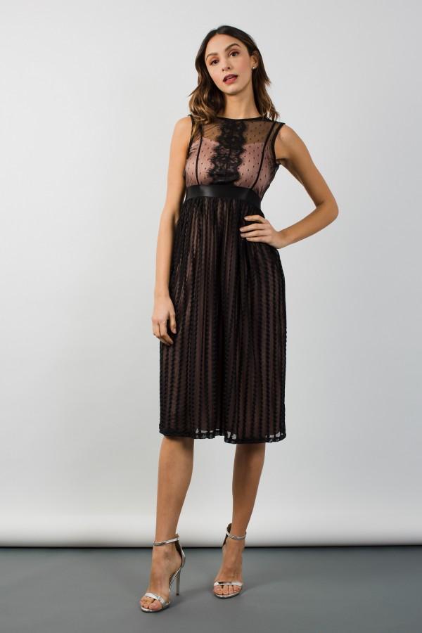 TFNC Oxana Black Midi Dress