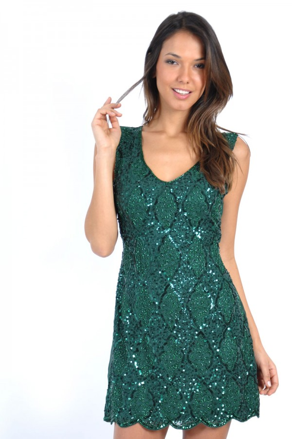 TFNC Abria Embellished Dress