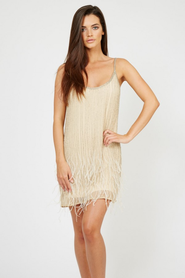 Lace & Beads Texas Gold Embellished Dress