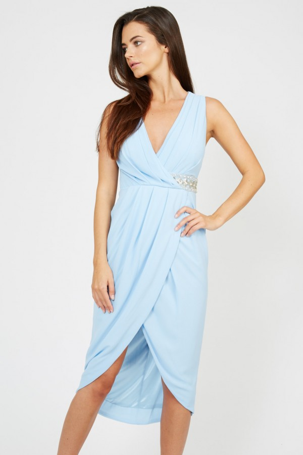 TFNC Tina Pale Blue Dress