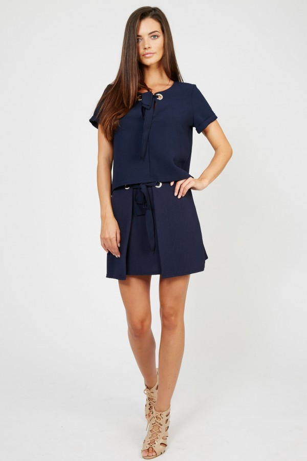 TFNC Lyn Navy Mini Skirt
