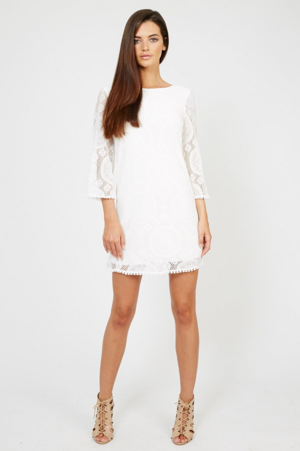 TFNC Jamela White Dress